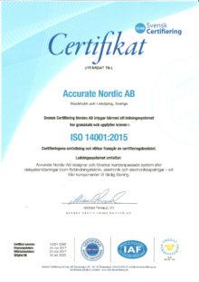 ISO-certifikat 14001-2015