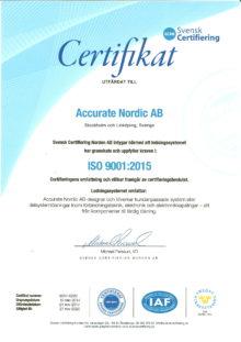 ISO-certifikat 9001-2015