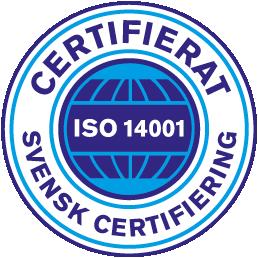 Accurate Nordic är certifierat enligt SCAB - Svensk Certifiering ISO 14001